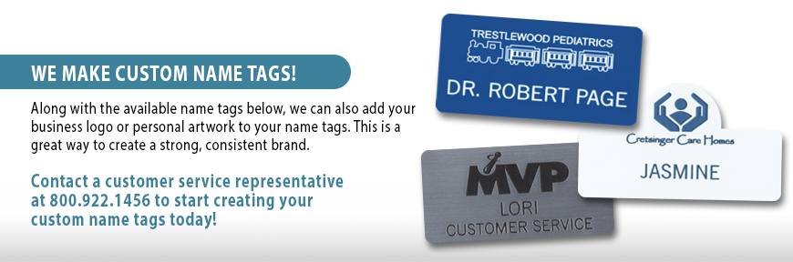 Custom Engraved Name Tags from Professional Apparel Company